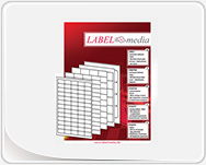 Blank adhesive labels in sheets